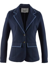 Sweat-Blazer, bpc bonprix collection, dunkelblau/indigo