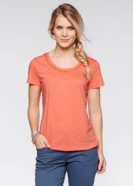Kurzarmshirt, bpc bonprix collection, lachs melange