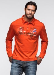 Langarmpoloshirt, bpc bonprix collection, orange