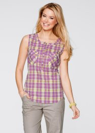 Bluse, bpc bonprix collection, mattbrombeer kariert