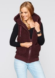 Basic Fleece-Weste, bpc bonprix collection, beere