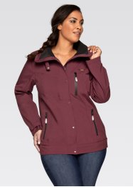 Stretch-Softshell-Jacke, bpc bonprix collection, bordeaux