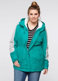 Wetterjacke 3in1, bpc bonprix collection, smaragd/mattsilber