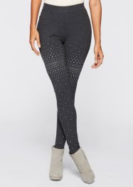Leggings, bpc selection, anthrazit meliert/silber
