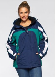 Funktions-Winterjacke, bpc bonprix collection, mitternachtsblau/dunkelsmaragd