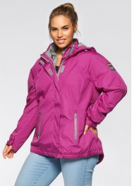 3 in 1 Funktions-Outdoorjacke mit Kapuze, bpc bonprix collection, violettorchidee