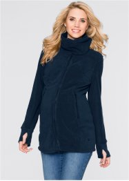 Umstandsjacke aus Fleece, bpc bonprix collection, bleu foncé