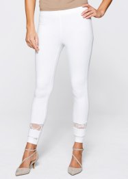 Leggings mit Spitze, bpc selection, weiss
