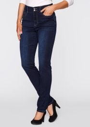 Schmal geschnittene Push-up-Stretchjeans, bpc bonprix collection, dark denim