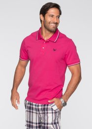 Poloshirt Regular Fit, bpc bonprix collection, hellgrau meliert