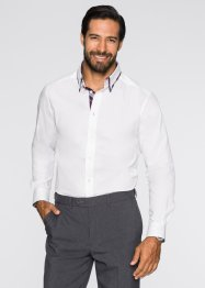 Langarmhemd, Slim Fit, bpc selection, weiss