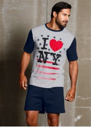 "Shorty ""I love NY"", bpc bonprix collection, dunkelblau/grau bedruckt"