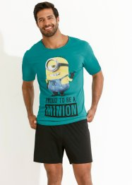 "Shorty ""Minions"", bpc bonprix collection, blaugrün bedruckt"