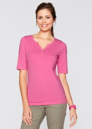 Henley-Kragen-Shirt, bpc bonprix collection, flamingopink