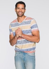 T-Shirt Slim Fit, RAINBOW, weiss/bunt gestreift
