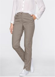 Chino-Hose mit verstellbarem Bund, bpc bonprix collection, taupe