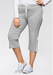 Stretch-Sportcapri, bpc bonprix collection, hellgrau meliert