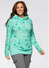 Leichtes Sweatshirt mit Sternendruck, bpc bonprix collection, mint