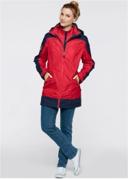 3 in 1 Outdoorlangjacke, bpc bonprix collection, rot/dunkelblau
