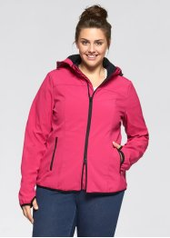 Kapuzensoftshelljacke, bpc bonprix collection, dunkelpink.
