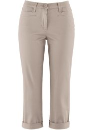 Figurformende 7/8-Stretchhose, bpc bonprix collection, taupe