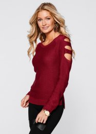 Strickpullover mit Cut-Outs, BODYFLIRT boutique, weiss