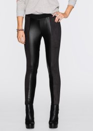 Treggings im Materialmix, RAINBOW, schwarz