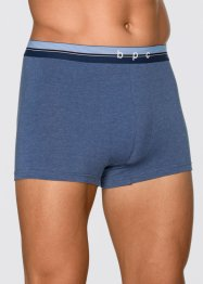 Boxer (3er-Pack), bpc bonprix collection, blau melange/ dunkelblau
