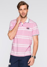 Poloshirt Regular Fit, bpc selection, rosa/weiss gestreift