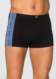 Boxer (3er-Pack), bpc bonprix collection, schwarz/blau bedruckt