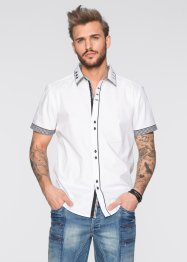 Kurzarmhemd Slim Fit, RAINBOW, weiss