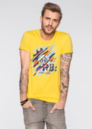 T-Shirt Slim Fit, RAINBOW, gelb
