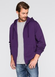 Sweatjacke mit Kapuze, Regular Fit, bpc bonprix collection, dunkellila