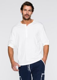 Langarmshirt Regular Fit, bpc bonprix collection, weiss