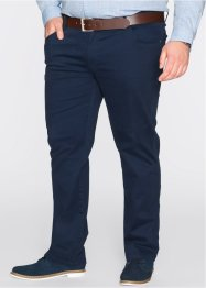 5-Pocket Stretchhose, Slim Fit Straight, bpc bonprix collection, dunkelblau