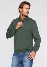 Herren Sweatshirt, Regular Fit, bpc bonprix collection, dunkelgrün