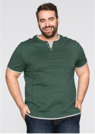 T-Shirt in 2-in-1-Optik im Regular Fit, bpc bonprix collection, anthrazit meliert