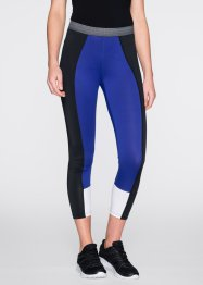 Funktions-Leggings, wadenlang, bpc bonprix collection, hellgrau meliert gemustert