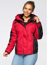 Wetterjacke 3in1, bpc bonprix collection, rot/schwarz