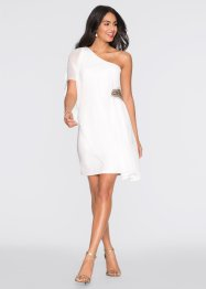 One-Shoulder-Kleid, BODYFLIRT, wollweiss