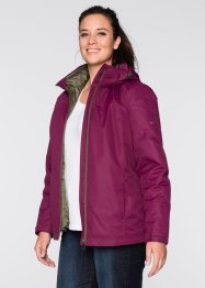 3-in-1-Funktions-Outdoorjacke, bpc bonprix collection, beere/dunkeloliv