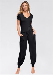 Wellness-Overall, bpc bonprix collection, schwarz