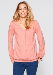 Langarm-Shirt, bpc bonprix collection, weinbeere