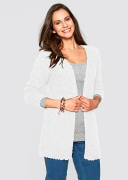 Offene Strickjacke, bpc bonprix collection, wollweiss