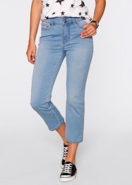 7/8-Push-up-Stretchjeans mit Schlitz, bpc bonprix collection, medium blue bleached
