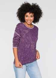 Over-dyed-Pullover, John Baner JEANSWEAR, weinbeere