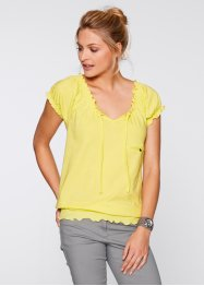 Basic Baumwollshirt Single-Jersey heavy, bpc bonprix collection, helllimone
