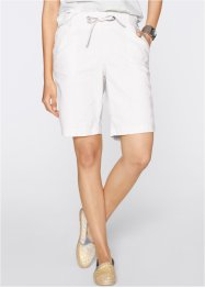 Leinen-Shorts, bpc bonprix collection, weiss