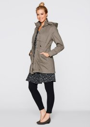 Parka mit Jerseyfutter, bpc bonprix collection, taupe