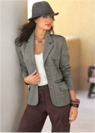 Tweedblazer, bpc selection, schwarz meliert
